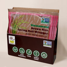 Load image into Gallery viewer, Vietnamese Brown Rice Spring Roll Wrapper - Pack of 6