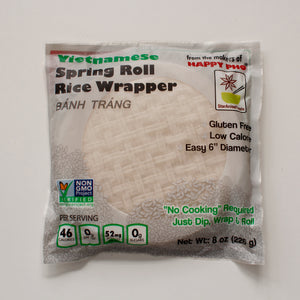 Vietnamese Non GMO Spring Roll Rice Wrapper - Pack of 12