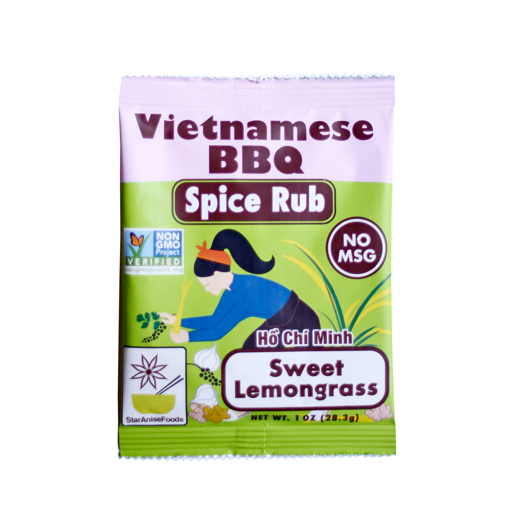 Vietnamese BBQ Spice Rub Sweet Lemongrass - Pack of 10