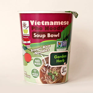Vietnamese Pho Noodle Soup Bowl Garden Herb - Pack of 6