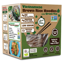 Load image into Gallery viewer, Vietnamese Gluten Free Brown Rice Noodles With Green Tea - Family Pack - 12 servings
