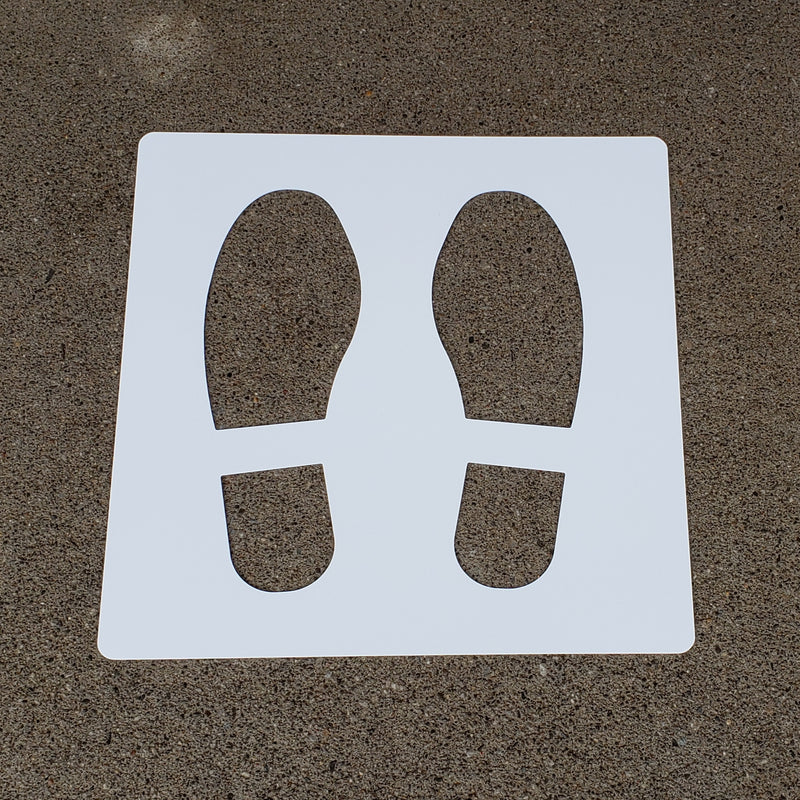 13'' Social Distancing Safety Floor Stencil