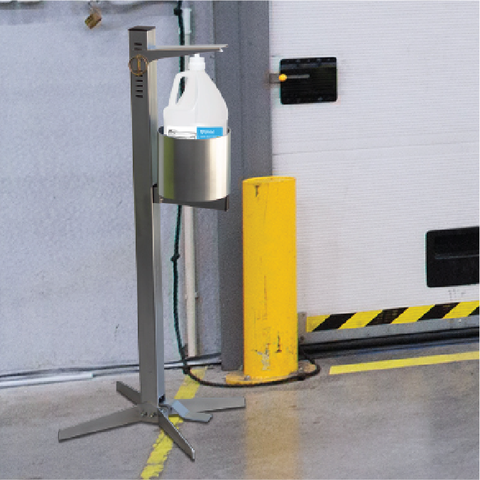 Shield Pedal Activated Sanitizer Dispenser - Industrial
