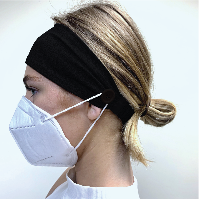 Headband with Buttons for Face Mask