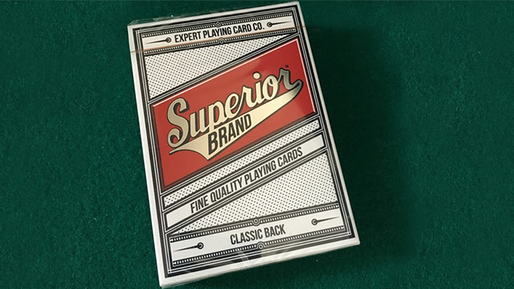 Superior Invisible (Red) Playing Cards by Expert Playing Card Co
