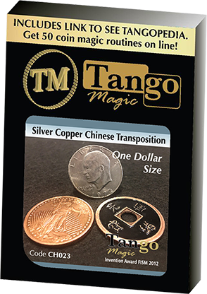 Dollar Size Silver Copper Chinese Transposition - Tango Magic