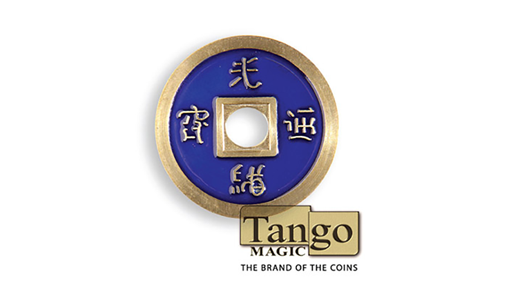 Dollar Size Chinese Coin (Blue) - Tango Magic