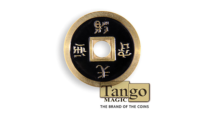 Dollar Size Chinese Coin (Black and Yellow) - Tango Magic