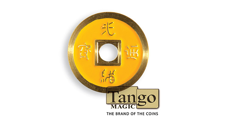 Dollar Size Chinese Coin (Yellow and Red) - Tango Magic