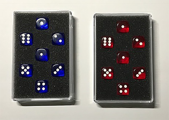 Prediction Gimmicked Dice Red (7 Dice) by Kreis