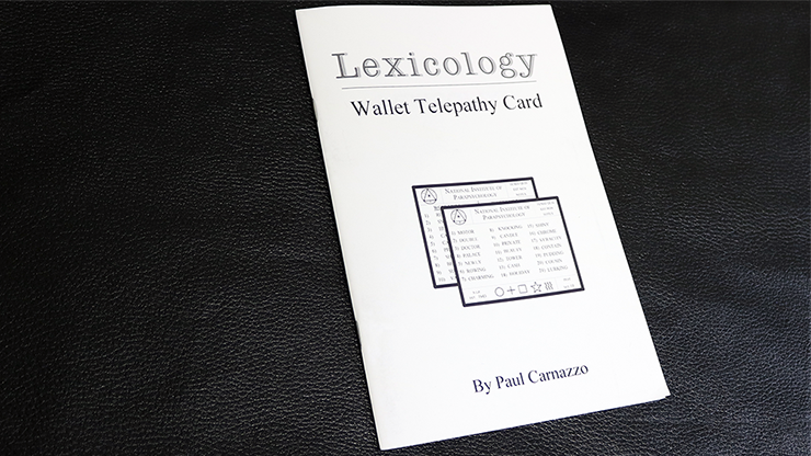 Lexicology 2.0 with Telepathy card by Paul Carnazzo