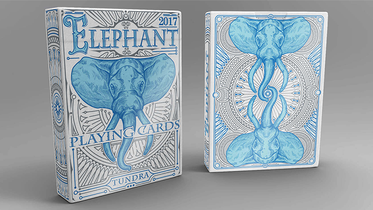 Elephant Playing Cards (Tundra)
