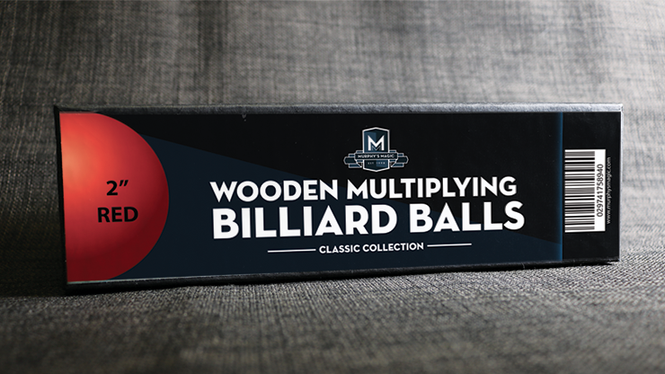 "Wooden Billiard Balls (2"" Red) by Classic Collections"