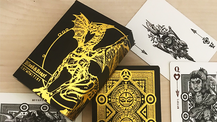 Blood and Beast (Gold-Gilded) Playing Cards