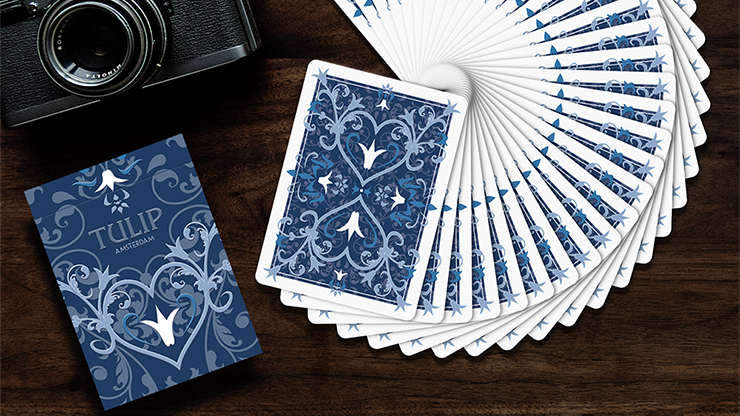 Tulip Playing Cards (Dark Blue) by Dutch Card House Company