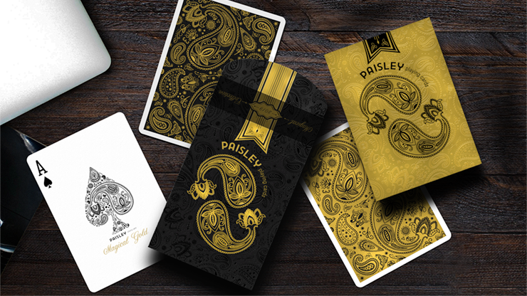 Paisley Magical Black Playing Cards by Dutch Card House Company