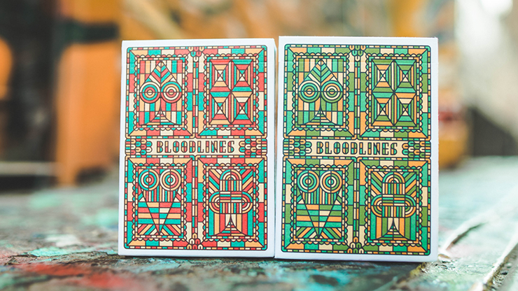Bloodlines (Ruby Red) Playing Cards by Riffle Shuffle