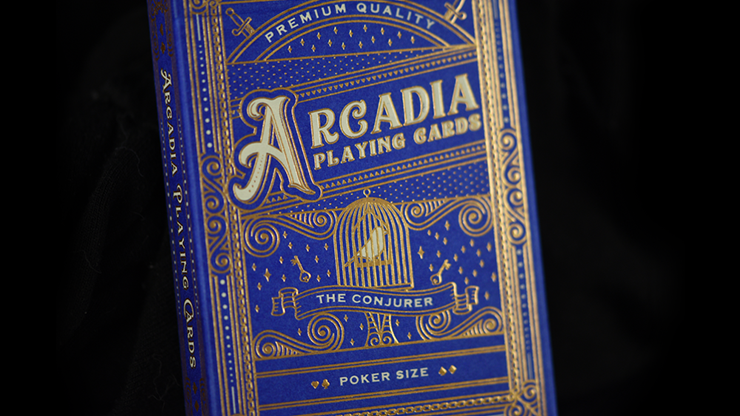 The Conjurer Playing Cards (Blue) by Arcadia Playing Cards