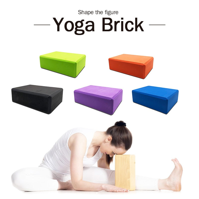 10Colors EVA Yoga Block Brick 120g Sports Exercise Gym Foam Workout Stretching Aid Body Shaping Health Training Fitness Sets T