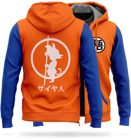 Veste Polaire DBZ Orange & Bleu