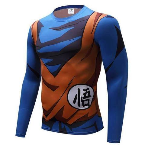 T-shirt Compression Long Son Goku