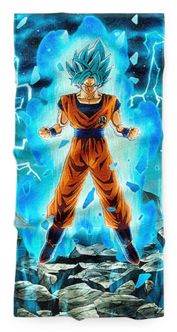 Serviette Dragon Ball Goku Super Saiyan Blue