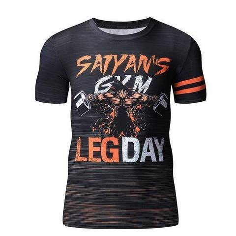 T-shirt Compresion Goku Leg Day