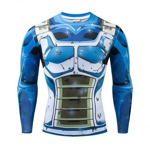 T-shirt Compression Long Saiyan Ameliore