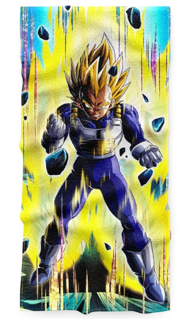 Serviette Dragon Ball Z Vegeta Super Siayan