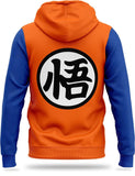 "Veste Polaire DBZ Kanji ""GO"" (Orange & Bleu)"