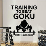 Sticker Mural Dragon Ball Training to Beat Goku
