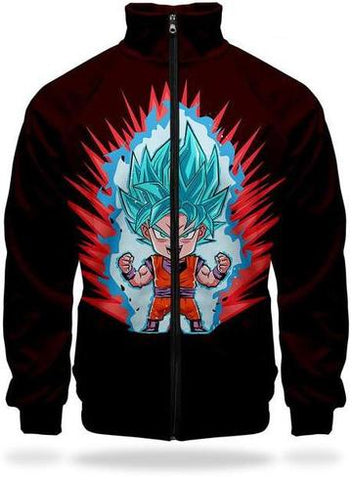 Veste Survetement DBZ Goku SSJ Blue