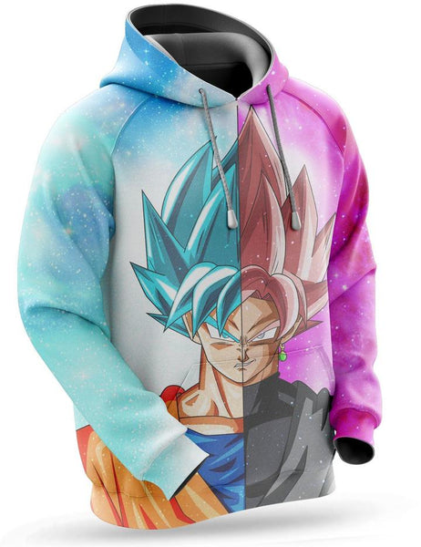 Sweat Dragon Ball Super Goku Blue & Goku Rose
