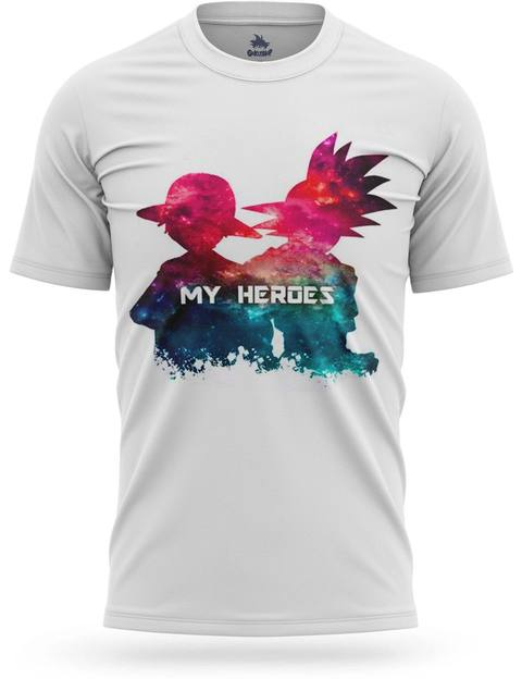 T-shirt Dragon Ball Z Goku & Luffy Heroes