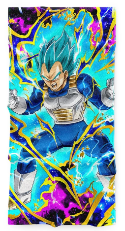 Serviette Dragon Ball Vegeta Blue