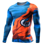 T-shirt Compression Long Goku Combat