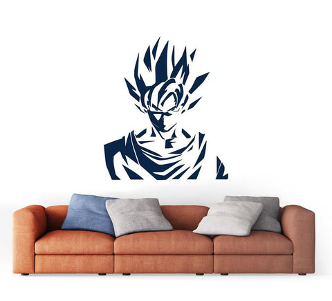 Stickers Mural Dragon Ball Goku Guerrier Saiyan