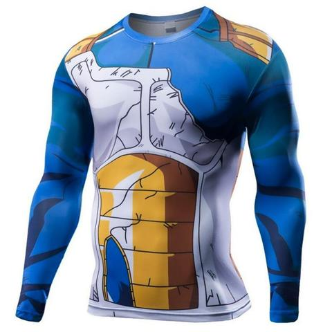 T-shirt Compression Long Vegeta