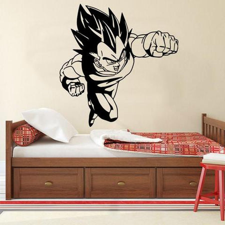 Sticker Mural Dragon Ball Vegeta Combat
