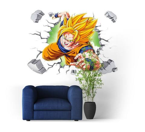 Sticker Mural Dragon Ball Goku Fureur Guerriere