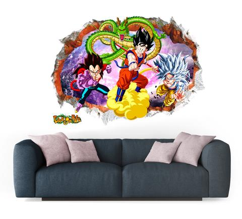 Sticker Mural Dragon Ball Goku et Vegeta SSJ4