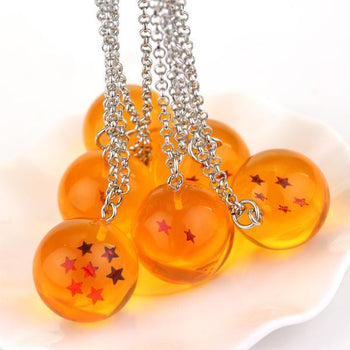 Collier Dragon Ball Z 7 Boules De Cristal