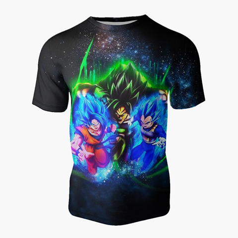 T-shirt Dragon ball z </br> Goku Vegeta vs Broly