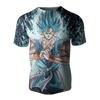 T-shirt Dragon ball z </br> Goku Blue Maîtrisé