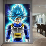 Tableau Dragon Ball Super Vegeta SSJ Blue