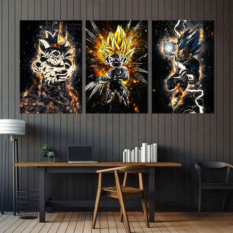 Tableau Dragon Ball Z Saiyan Full Power