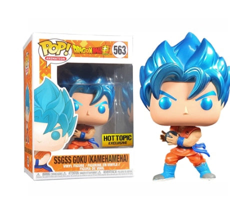 figurine pop dragon ball goku blue kaméhameha