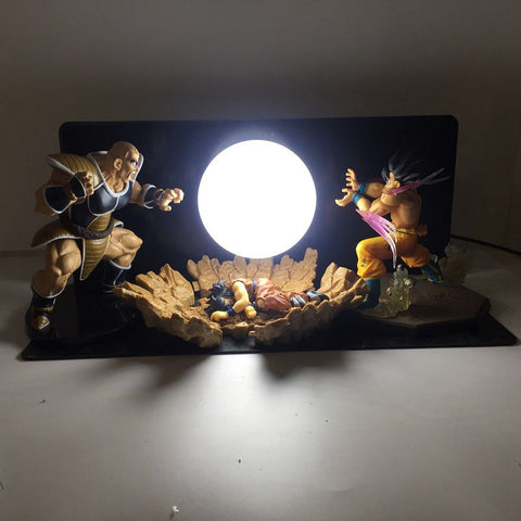 Lampe Dragon Ball z <br/>Goku vs Nappa