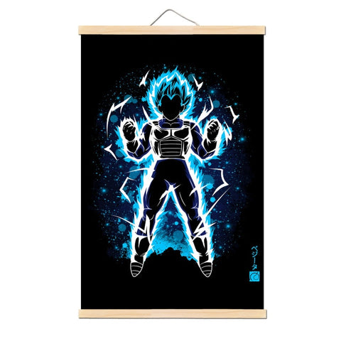 Tableau Dragon Ball Z Super Vegeta Blue
