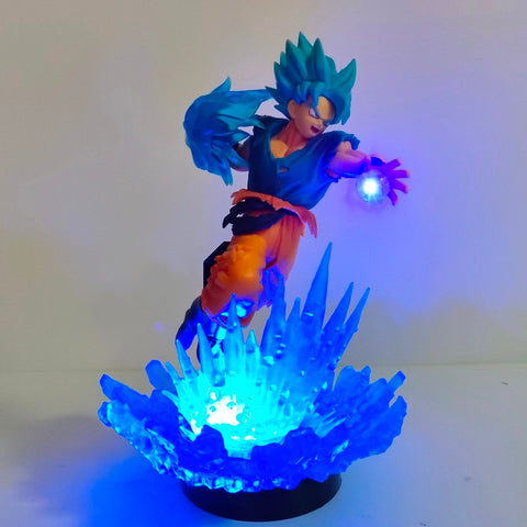 Lampe Dragon Ball z <br/>  Goku super saiyan Bleu